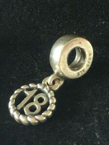 "PANDORA STERLING SILVER ""18""  DANGLE CHARM"