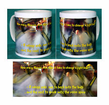 MORRIS DANCING JOKE MUG.HOW MANY MORRIS MEN TO CHANGE A LIGHT BULB.NEW.BNIB