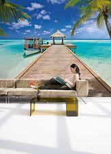 Murale Parete Photo carta da parati Beach Resort Tropicale Salotto Decor 368x254cm