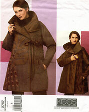 VOGUE Am.Designer Reversible Coat Koos Van Den Akker Pattern 2757 Size 6 UNCUT