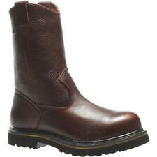 """Wolverine W03146 Men's 10"""" Steel Toe Wellington Brown Pull On Work Boots Sz 13"""