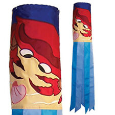 40 in Crab Shell Applique with Embroidered Accents Windsock  4195
