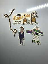 Bundle Of 4 Disney Pixar Toy Story 4 Fridge Magnets NEW Slinky Ventriloquist