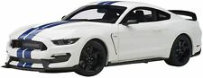 Ford Shelby GT350R White / Blue Stripe Finished Product AUTOart 1/18