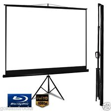 NEW Home Theatre Office Manual Movies Tripod Projector Presentation Screen easy