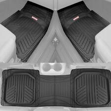 3PC Black Waterproof Automotive Rubber Floor Mats Liner for Car Van SUVs Truck