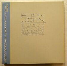 "ELTON JOHN Live in Australia 12"" BOX CD Numbered Edition MINT-  RP 1064"