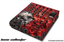 Skin Decal Wrap for PIONEER DJM-900 DJ Mixer CD Pro Audio DJM900 Parts BONES RED
