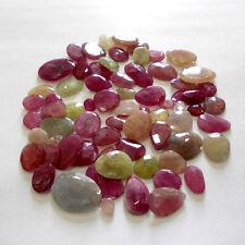 Multi Sapphire Rose cut faceted Polki 10 pcs Fancy Shape 100% Natural Gemstones