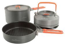 Fox NEW Carp Fishing Lightweight Non Stick  Aluminium 3 Piece Cookware Set