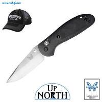 Benchmade 556 Mini Griptilian Knife Black Handle Drop Point S30V Blade FREE HAT
