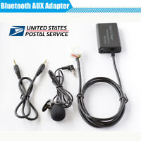 Car AUX Music Bluetooth Hands-Free Adapter with Built-in Microphone For Honda