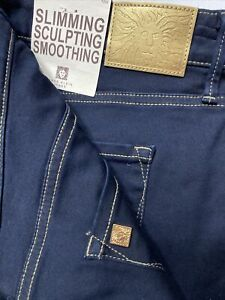 Anne Klein Dark Blue Jeans Jeggings Size 16W Slimming Sculpting Smooth $99 NEW