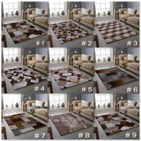 MODERN DESIGN RUG GOLD BROWN SOFT LARGE LIVING ROOM FLOOR BEDROOM CARPET RUGS