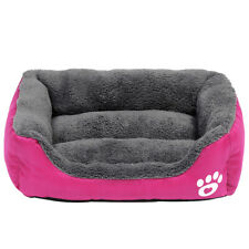 Warm Dog Cat Beds for Small Dogs Fleece Sleeping Cushion Pet Puppy Kennel Crate