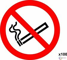 X100 Clear No Smoking Self Adhesive Sticker 75mm ISO Compliant - /taxi