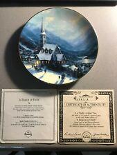 Thomas Kincade's Yuletide Memories A Beacon Of Faith Collector Plate