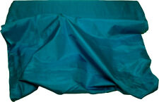 100% Pure Natural Silk Hand Loomed Fabric Selling per Yard Turquoise Blue-15