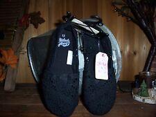 FADED GLORY GIRLS CASUAL SLIP ON BLACK CLOTH SLIPPERS SIZE 13 KIDS FOOTWEAR FUN