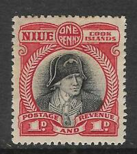 NIUE Cook Islands 1d CAPTAIN COOK Mint Hinged (No 3)