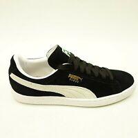 Puma Mens Suede Skate Classic + Low Top Black Shoes US 8.5 EU 41