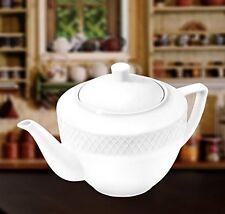 Wilmax 30 oz. Julia Collection White Porcelain Tea Pot, Classic Design, Gift Box