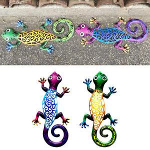 Metal Gecko Outdoor Wall Decor Lizard Outdoor Garden Wall Hanging Art Decoration