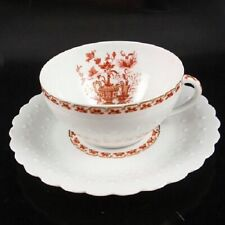 Georges Boyer Limoges NANKIN ROUGE Tea Cup & Saucer Aurore