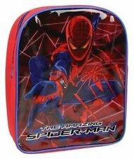 New Amazing Spiderman Boys Kids Red Backpack Childrens School Bag Spider Man
