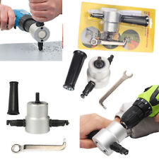 Dual Head Sheet Metal Cutting Nibbler Hole Saw Cutter Electric Drill Attachment