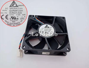 Delta 8025 12V 0.5A cooling fan QUR0812SH 4-Pin DELL P/N: 3VRGY-A00