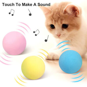 Catnip Balls For Cats Interactive Pet Ball Toys Kitten Indoor Sound Training Toy