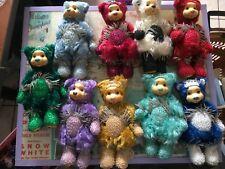 Robert Raikes Lot Of 9 Birthday Bears  Citrine, Garnet, Alexandrite Diamond