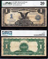 Nice *RARE* VF Fr. 229a Date Right 1899 $1 Black Eagle Silver Cert! PMG 20! 5874
