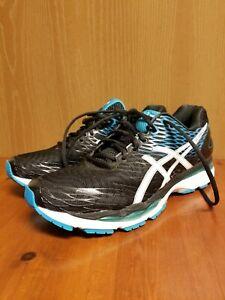 Asics T600N Gel Nimbus 18 Fluid Fit Men's Running Shoes Black Blue US Size 12.5