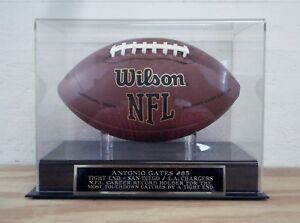 Antonio Gates San Diego / LA Chargers Football Case And Engraved Nameplate