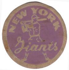 "1950'S NEW YORK GIANTS MLB BASEBALL VINTAGE 3.75"" TEAM LOGO PATCH GRAY PURPLE"