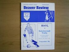 RHYL v GAINSBOROUGH TRINITY Northern Premier League 1983-84