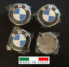 4 TAPPI COPRIMOZZO LOGO COMPATIBILE BMW 68mm