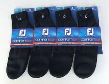 Footjoy ComfortSof Men's 1/4 Socks Black (4) Pairs New Free Shipping