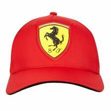 Offizielle Scuderia Ferrari Fanwear Red Carbon Baseball Cap Erwachsene One Size