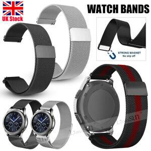 UK Universal Steel Milanese Mesh Loop Magnetic Watch Band Metal Strap 20mm 22mm