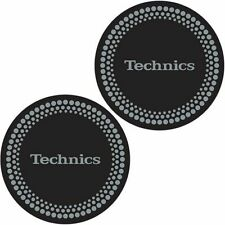 Technics Dots Slipmats (pair, black with silver foil design)
