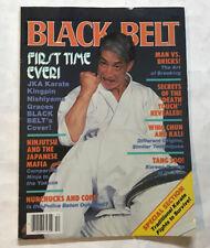 Black Belt Magazine 1986 Shotokan Karate Weapons