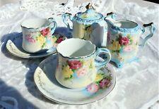 Vintage NIPPON Hand Painted TEA SET Tea Cups Creamer Sugar *GORGEOUS*