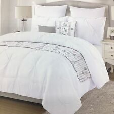 5pc Cynthia Rowley Paris Eiffel Tower Twin Comforter Set Pillow Coverlet Sham