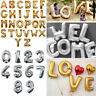 """16""""40"""" Letter&Number Foil Balloons Birthday Wedding Party Decor Rose Gold Silver"""