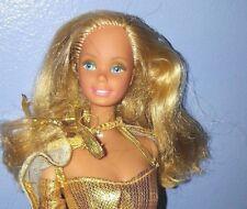 VINTAGE 1980 MATTEL BARBIE GOLDEN DREAM Doll taiwan w/original outfit