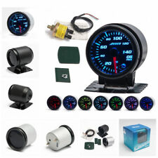 """7 Color LED 2""""/52mm Car Auto Oil Pressure Meter Oil Press Gauge With Sensor"""