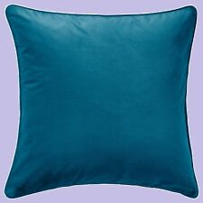 "IKEA""Sanela""Pillow Teal COVER 26""NEW Dark Turquoise 100%Cotton Velvet Cushion"